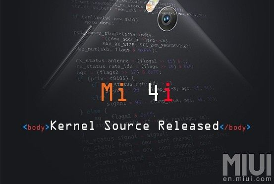 Xiaomi Releases Kernel Source Code For Mi4i