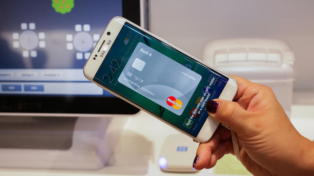 Samsung Pay card on Samsung Phone