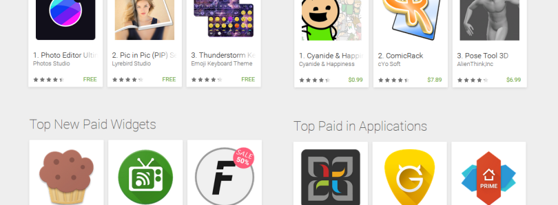 Find The Best Apps With Google's Categoric Top Charts