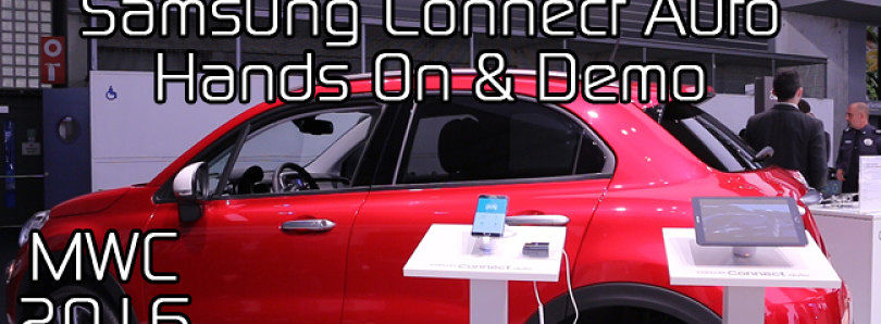 Samsung Connect Auto Hands On & Demo at MWC 2016
