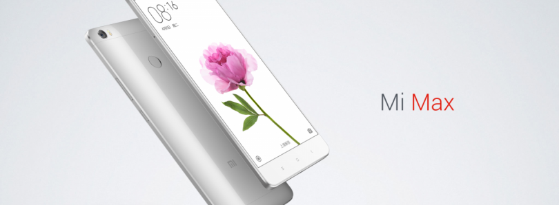 Xiaomi Launches the 6.44″ Mi Max, MIUI 8 Based on Android 6.0 Marshmallow