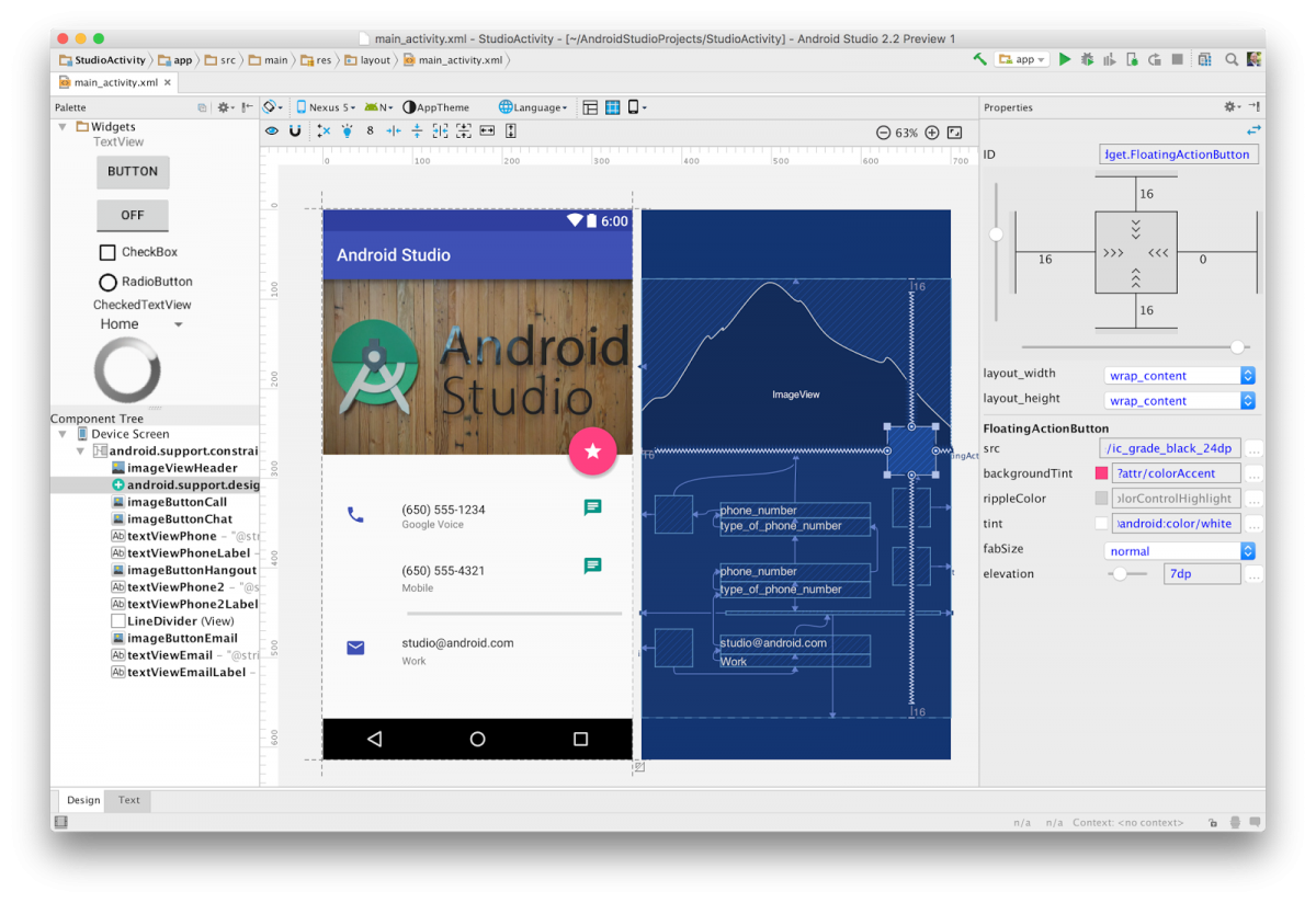 Android Studio 2.2 Preview 1