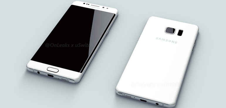 samsung galaxy note 6 7 renders show off dual edges