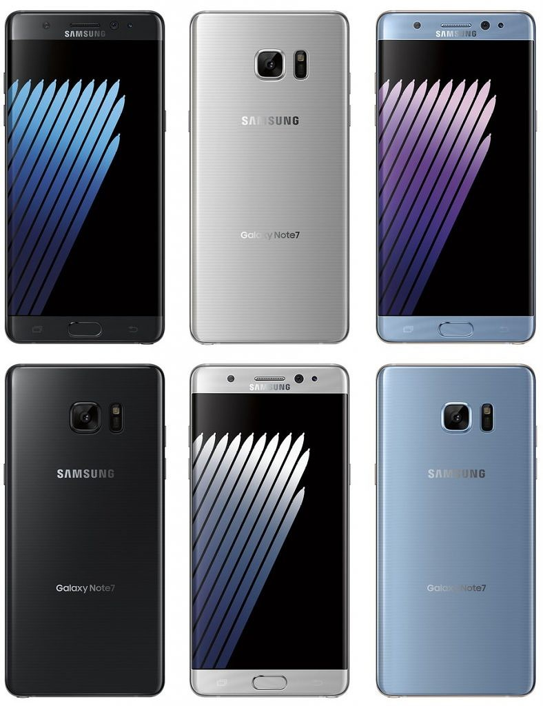 Samsung Galaxy Note 7 Press Renders