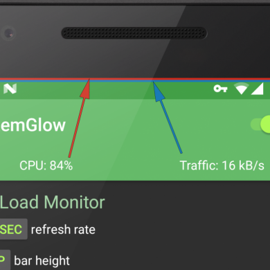 SystemGlow Adds CPU Load And Network Activity Info on Top of Your Status Bar