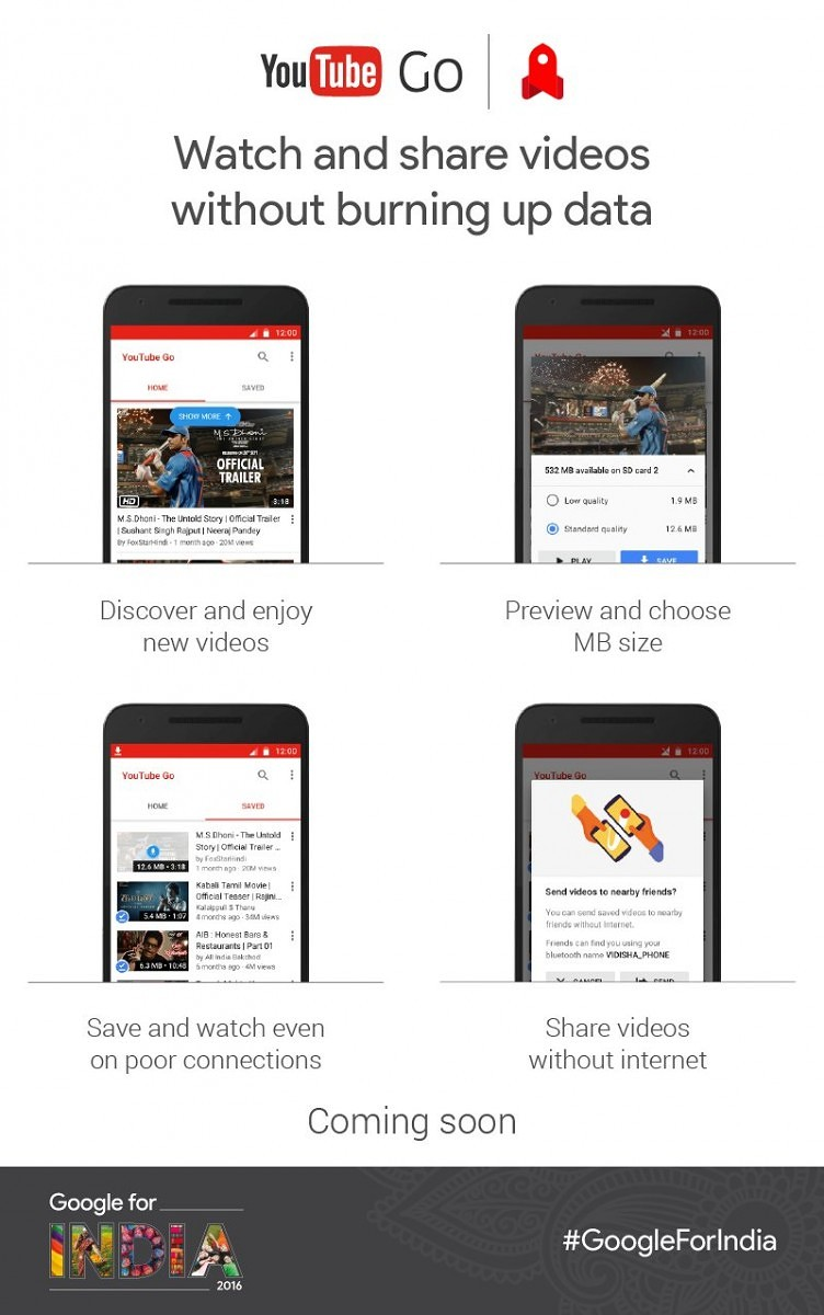 Google Announces YouTube Go in India: The Data-Friendly Way to YouTube