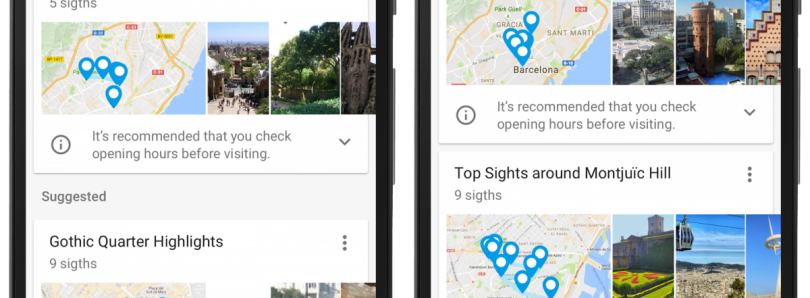 Google Trips Adds Bookmarked Maps and Search Locations