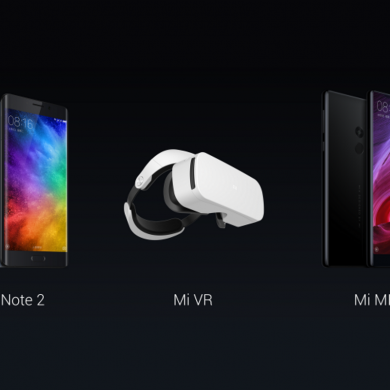 Xiaomi Unveils The Mi Note 2, The Mi MIX Concept Phone and Mi VR
