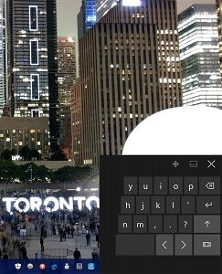 Windows 10 Split Keyboard With Nuit Blanche HTC 10 Long Exposure Toronto Background