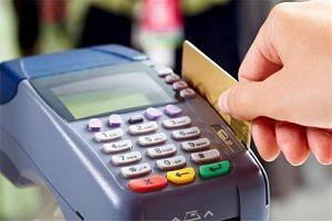 An EDC machine, used at merchant counters for card based transactions.