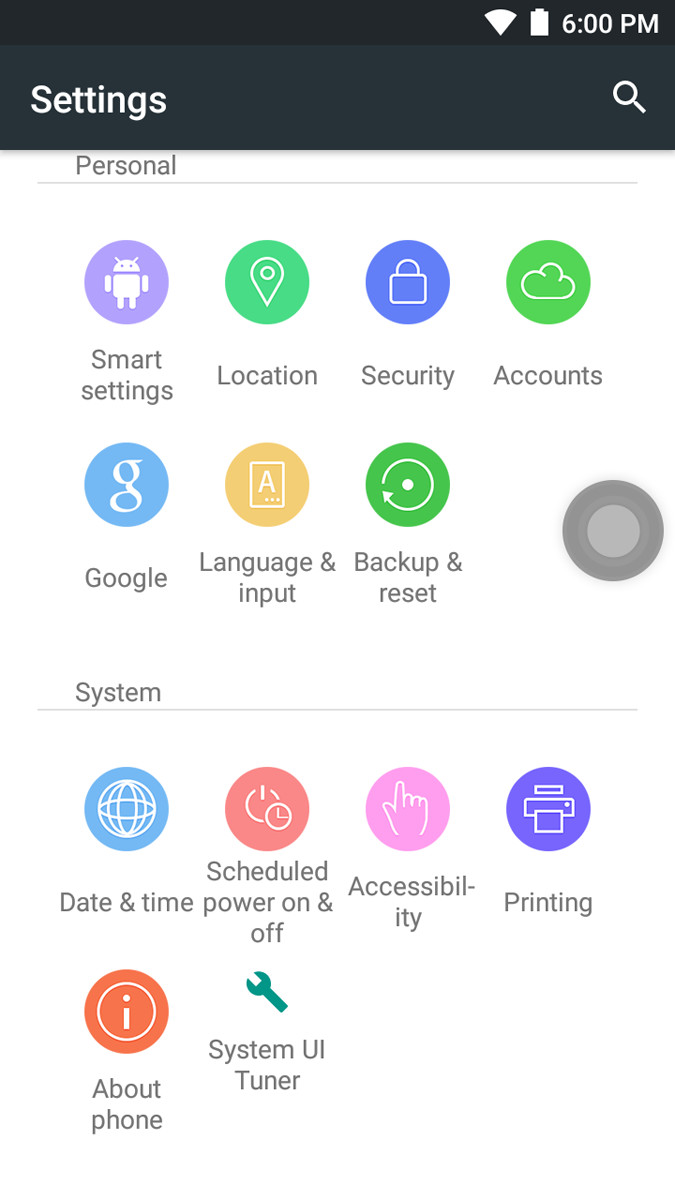 Ulefone Metal Settings Menu 2 of 2