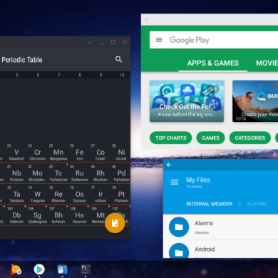 Chromebook Spotted with Android 7.1.1 Nougat Apps and Resizable Window Support