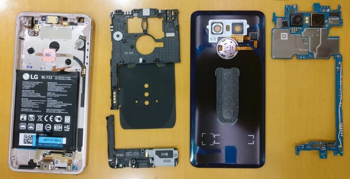 LG G6 Teardown: Don't Expect Many Home Repairs
