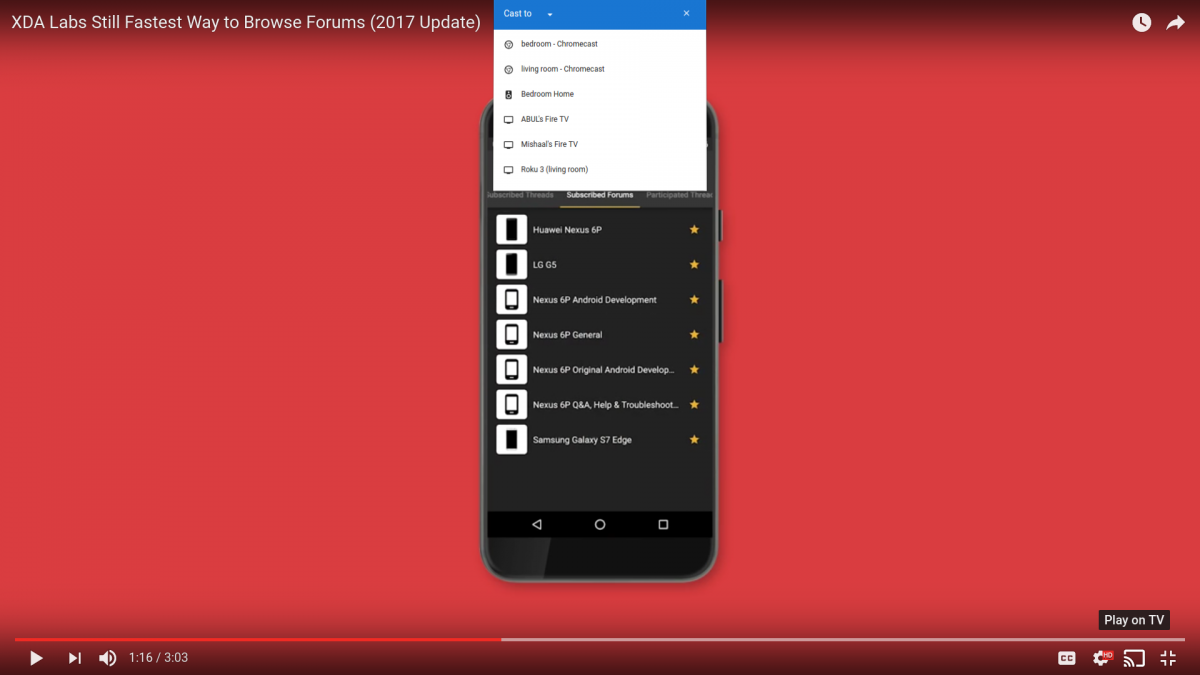 How to Cast ANY Video/Playlist from the YouTube App to your