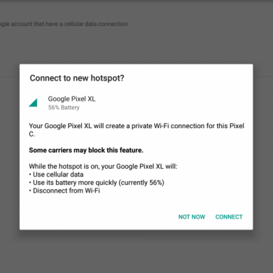Google Rolling Out 'Instant Tethering' to Pixel and Nexus Devices
