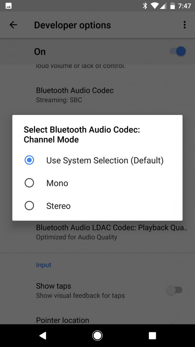 Android O Introduces Bluetooth Audio Codec Options in