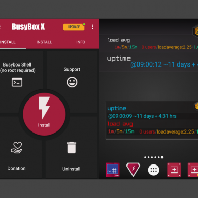 BusyBox X is a BusyBox Installer with Included Widget and Live Wallpaper