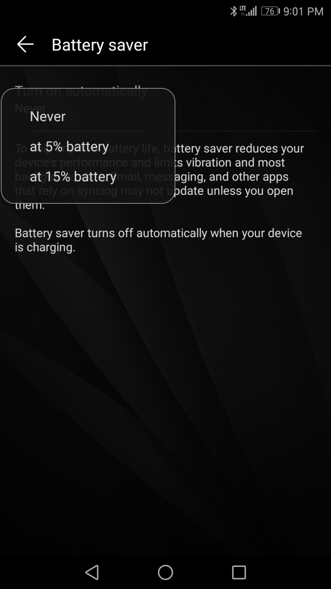How to Customize the Battery Saver Trigger Percent or Enable it when