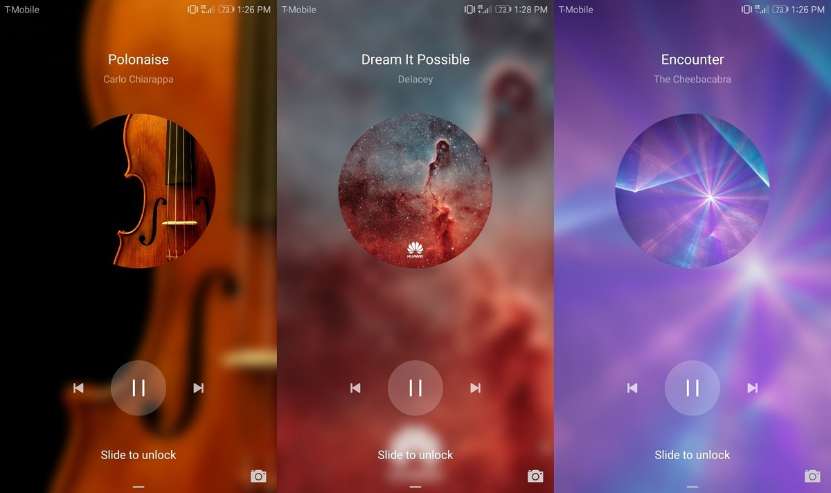How to use EMUI music lockscreen with Spotify or Poweramp