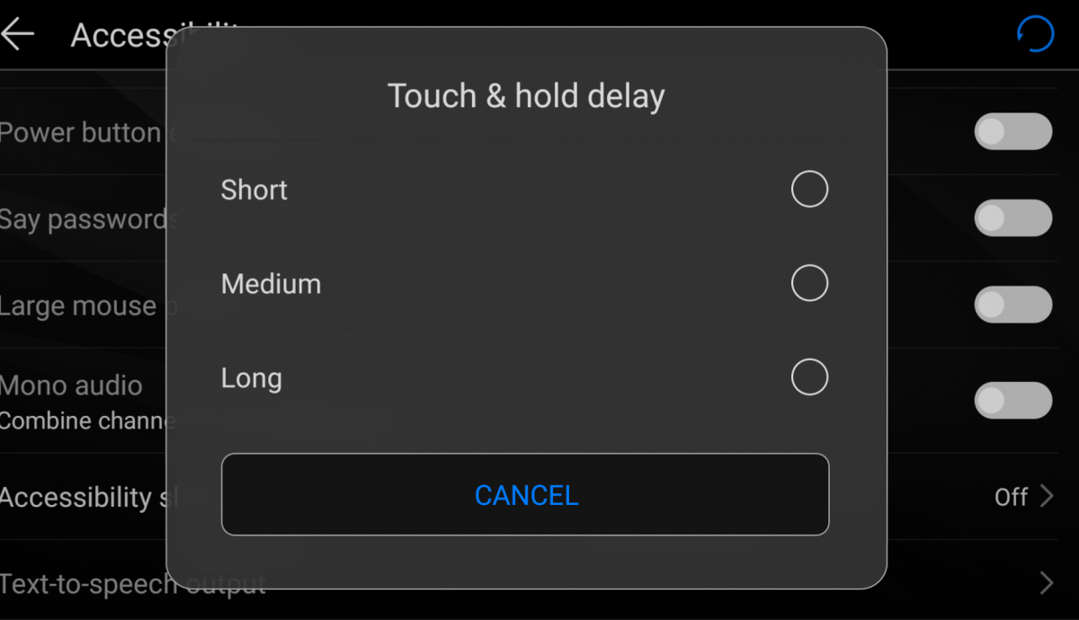 How to Reduce the Long Press Delay Beyond its Lowest Setting