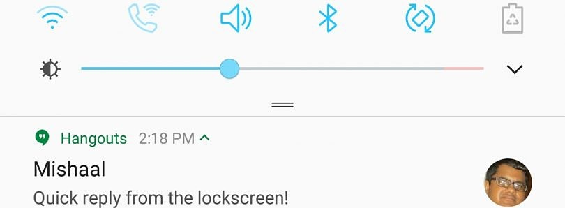 How to enable Quick Reply from the Lockscreen on Samsung Galaxy Devices running Nougat