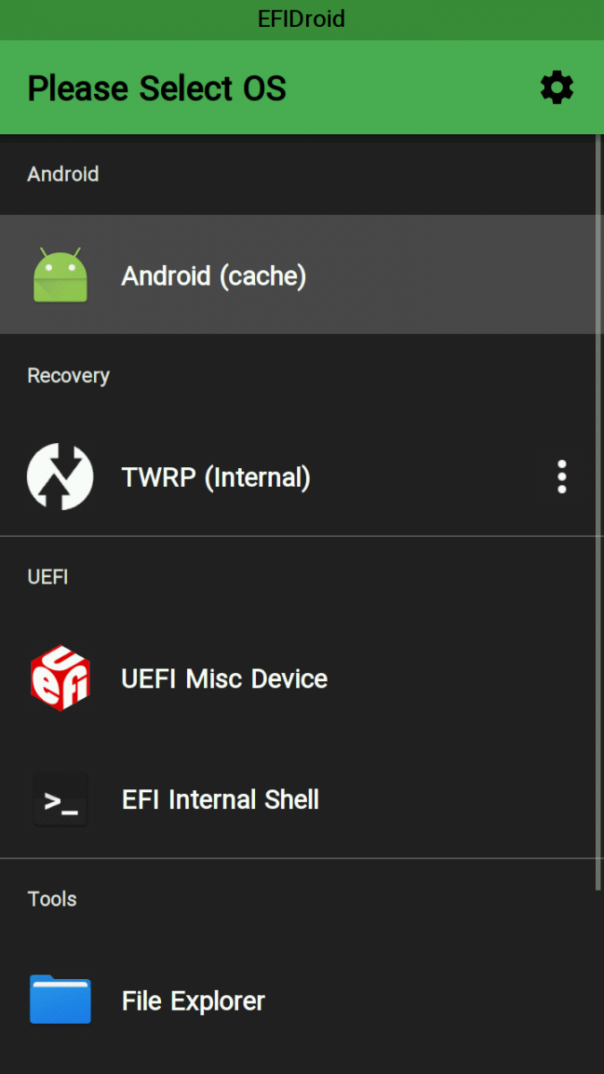 EFIDroid: A Second-Stage Bootloader Using UEFI Firmware to Multiboot