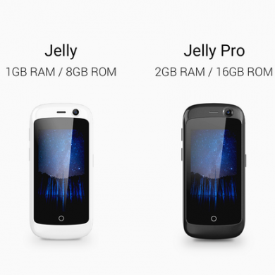 Jelly is a 2.45″ Smartphone that Runs Android Nougat