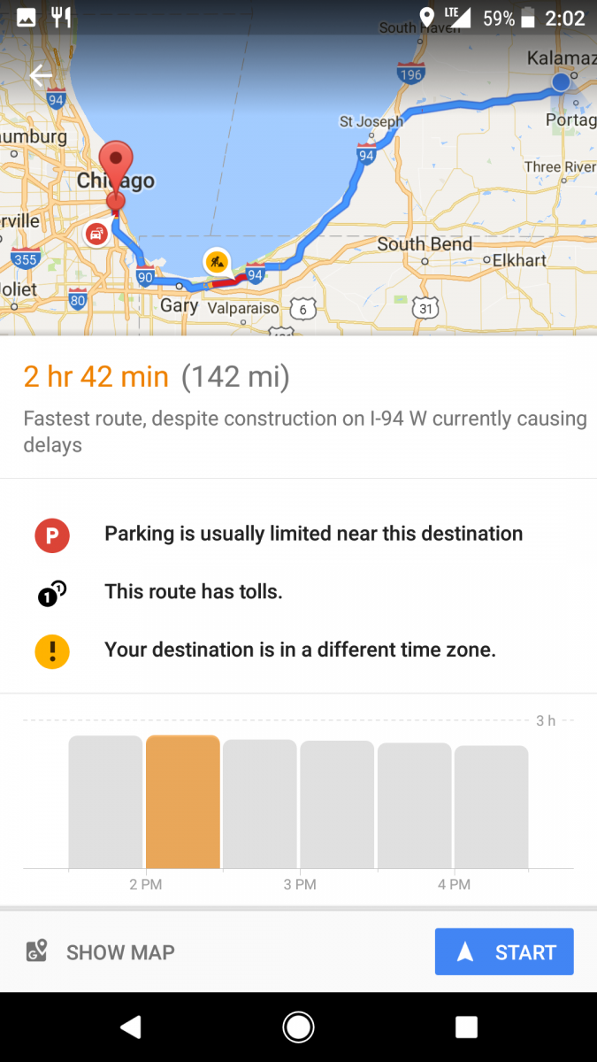 Google Maps' New Time Travel Bars Make Planning Road Trips