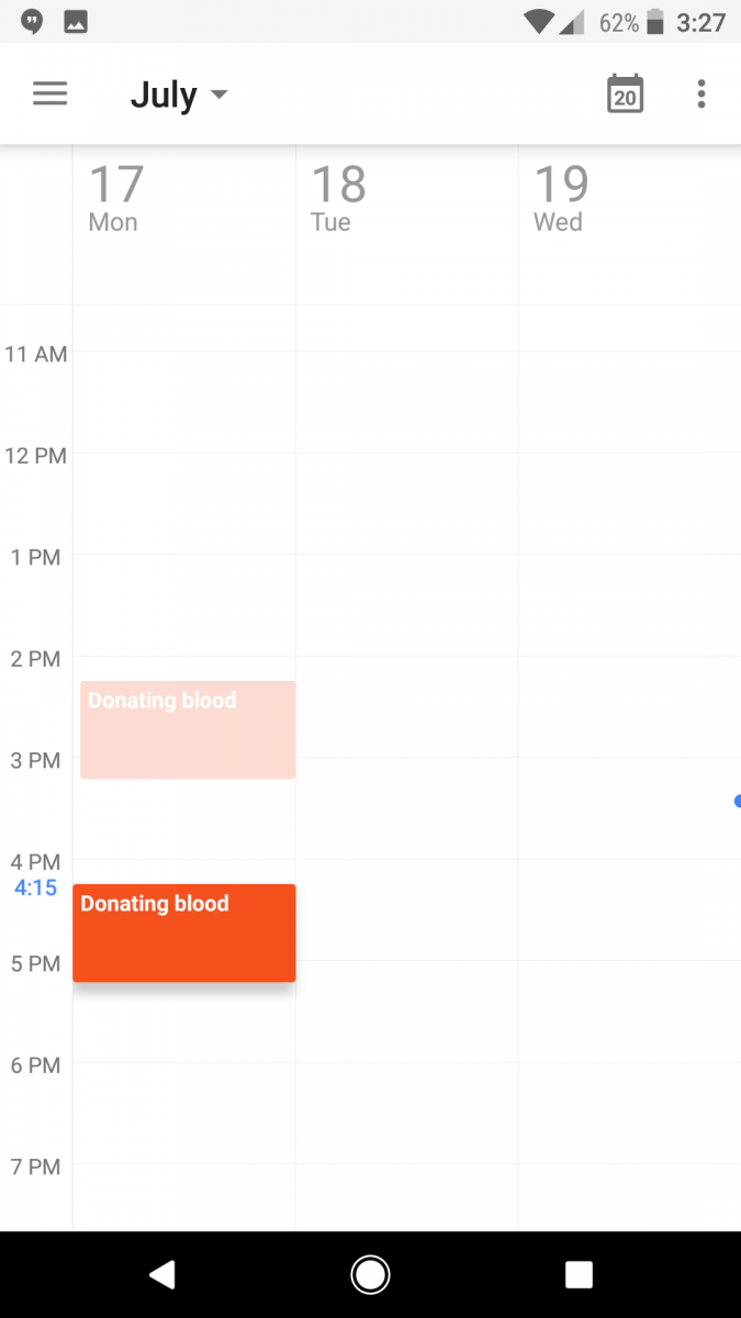 Google Calendar now lets you Change Event Times with a Drag
