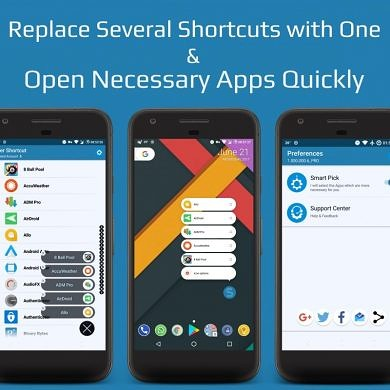 Super Shortcut uses Android 7.1.1's App Shortcuts to Declutter the Homescreen