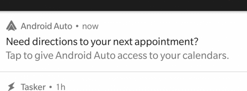 Android Auto Testing Upcoming Calendar Event Cards