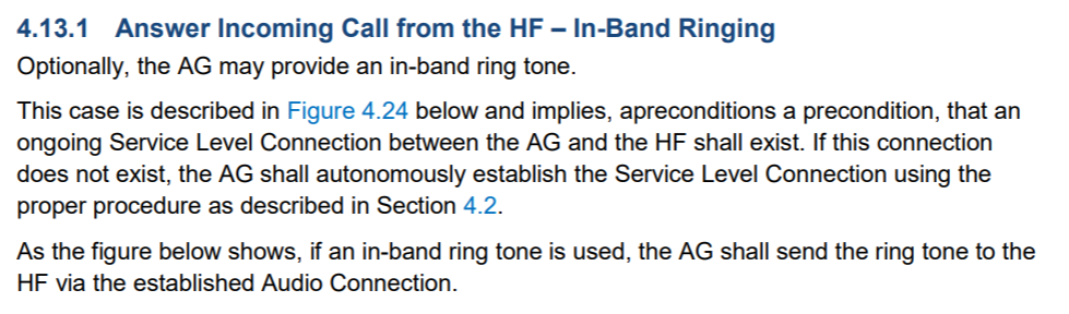 In-Band Ringtone Support in Android O