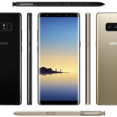 Renders Seemingly Reveal Black and Gold Variants of the Galaxy Note 8