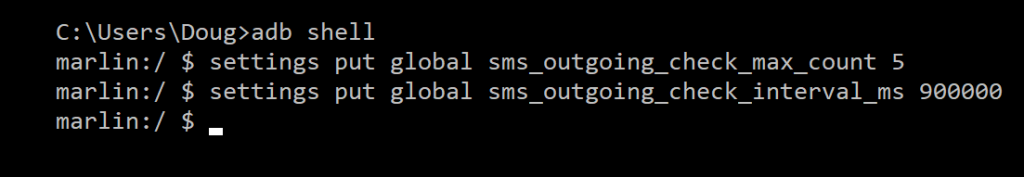 android sms limit