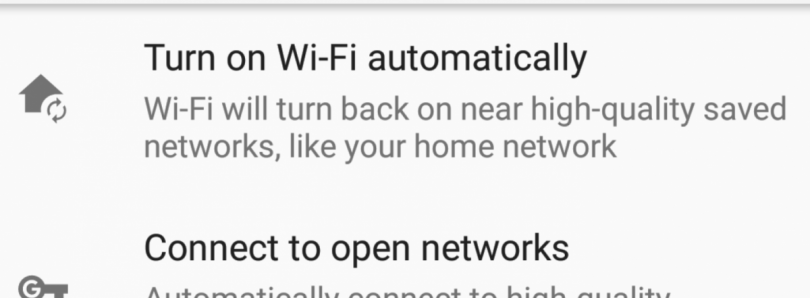 "Android Oreo's ""Turn on WiFi Automatically"" feature is available for all in Android Pie"