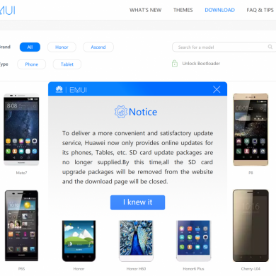 Huawei Removes EMUI Firmware Downloads from their Website
