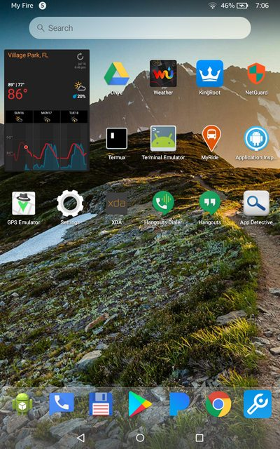 How to Use a Custom Launcher With Widgets on Amazon Fire OS
