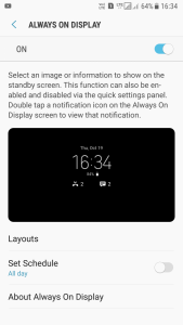 Enable Always on Display on any Samsung Nougat Device