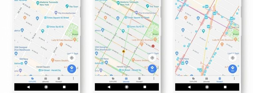 Google Maps Redesign Tweaks Color Scheme and Updates Map Modes
