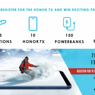 Register for the Honor 7X at Amazon India for a Chance to Win Prizes