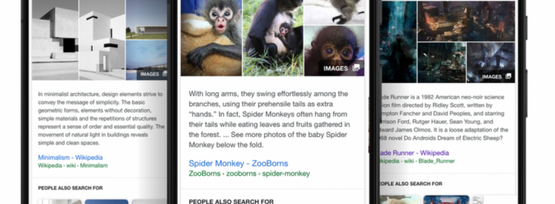 Google Search Updated with Featured Snippets, Knowledge Panels, and Suggested Content