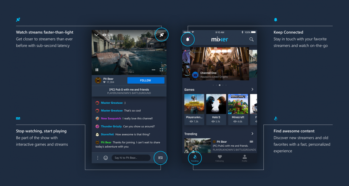 Microsoft Mixer Gets Push Notifications and a Redesign on
