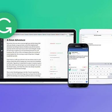 Grammarly Keeps Your Correspondence Typo-free and Suggests Improvements