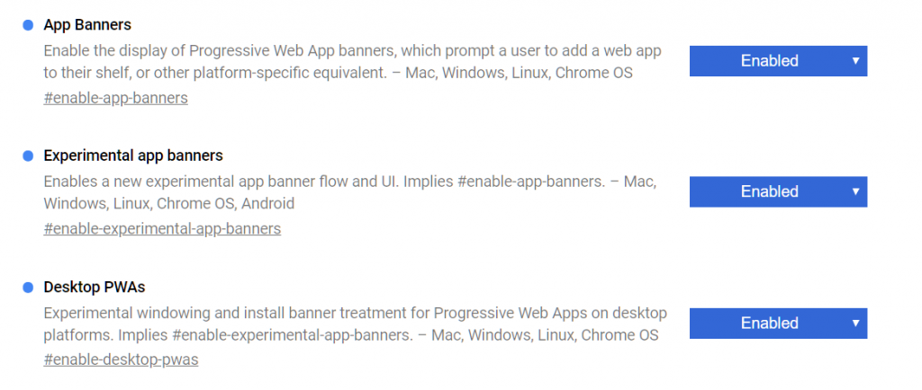 Progressive Web Apps can be enabled on Desktop Chrome right now