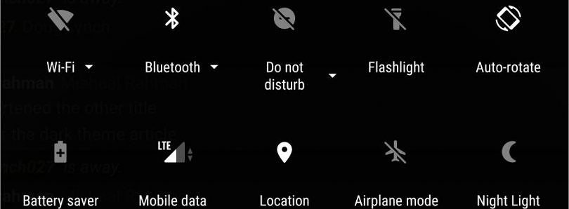 [Update: No Dark Theme] Google may add built-in Dark Theme to Android P, Add Weather Widget to Always on Display