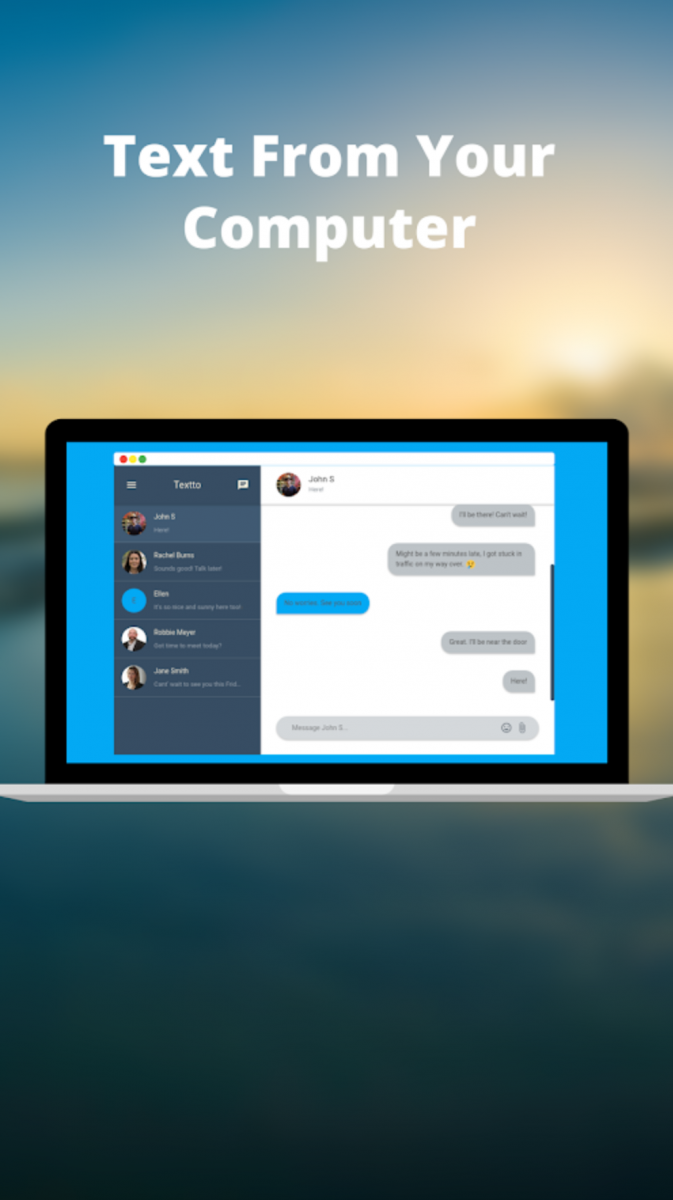 Textto lets you send Text Messages through your PC without changing