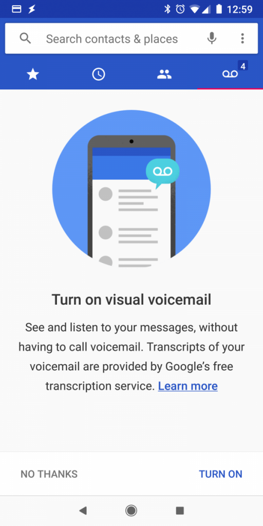 Google Dialer Voicemail Transcription Starting to Roll Out