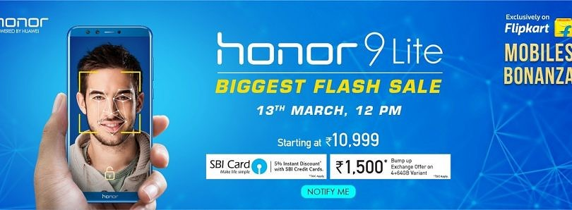 Flash Sale! The Honor 9 Lite Starting at ₹10,999 on Flipkart for Three Days Only