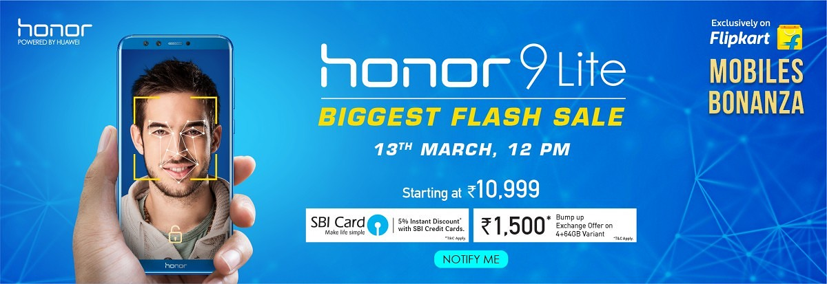 Flash Sale! The Honor 9 Lite Starting at ₹10,999 on