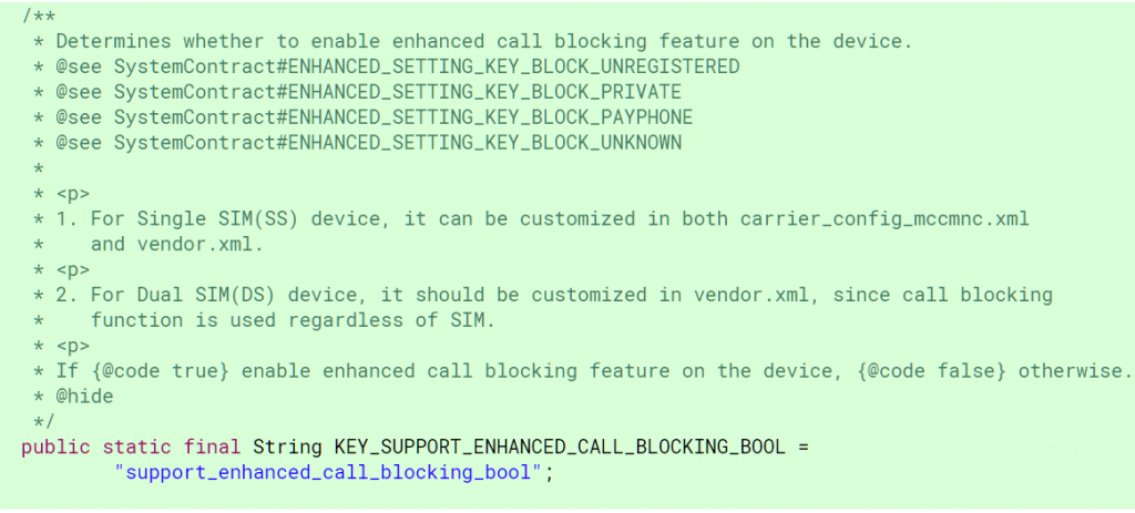 Android P Call Blocking